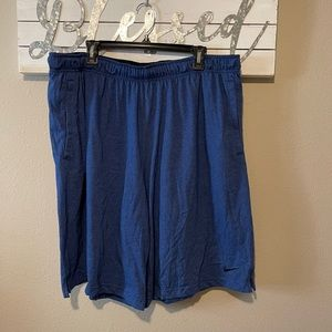 Nike - men's heather blue shorts  (4XL)